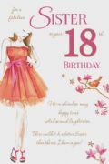 Sister 18th Birthday Card